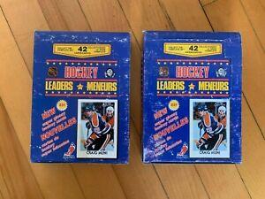 2x Unopened 1987-88 O-Pee-Chee Minis Boxes - Rare & Vintage GRETZKY, LEMIEUX +
