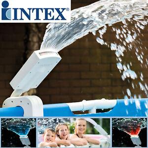 Intex Wasserfontäne Springbrunnen Wasserfall mehrfarbig für Pool LED Poollicht