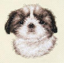 SHIH TZU pup, dog Full counted cross stitch kit, all materials *Fido Studio