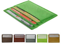 Genuine Leather Men's Slim Thin Credit Card Holder Case Sleeve Wallet U.S Seller