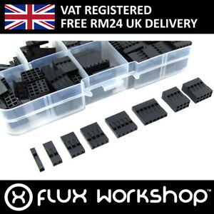 150pcs Conector de Pines Carcasa Set 2.54 2x4p 2x5p Cable Dupont Flux Workshop