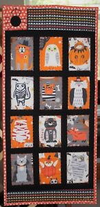 Halloween Furry Trick or Treaters Quilt Handmade Wall Hanging