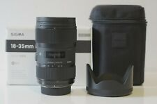 Sigma 18-35mm f/1.8 HSM DC Lens for Nikon DX F mount, GREAT CONDITION