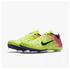 Nike Men's Zoom Maxcat 4 Track & Field Shoes Spikes Cleats Volt Yellow Pink  9.5