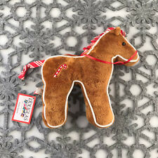 """Douglas Cuddle Toy Gingerbread Horse Cookie 7"""" Christmas RARE 681.1 Holiday Flat"""