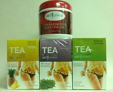 SET LIPO EXPRESS REGULAR, MORINGA & PINEAPPLE SLIMMING TEAS + REDUCING GEL