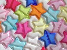 Mezclado Color 25 estrellas Encantos Colgante fabricación de joyas Artesanías 30 mm CHP0135