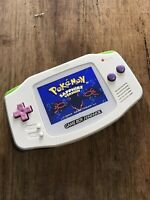Nintendo Gameboy Advance GBA White Pascal Handheld Gaming Console BACKLIT IPS 2