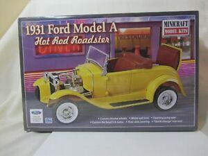 Minicraft - 1931 Ford Model A  Model  Kit  NIB  1:16  (0721HO)  11240