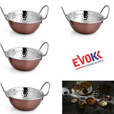 Balti Dish 16Cm Copper Lacquered Stainless Steel Pack of 4/8/12 For Indian Food