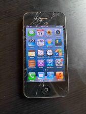 Apple iPhone 4 - 8GB - Black (Verizon) A1349 (CDMA) WORKS - CRACKED