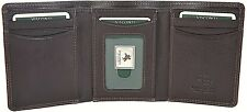 Visconti Luxury Soft Leather Dark Brown Trifold Mens Wallet Ht-18 Gift Boxed