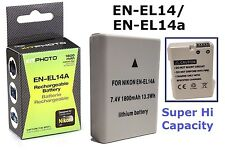 Rechargeable Hi Capacity EN-EL14a Li-Ion Battery for Nikon Df