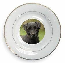 Fell Terrier Dog Gold Rim Plate in Gift Box Christmas Present, AD-FT1PL