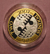 2007 ROYAL MINT ACT OF UNION SILVER PROOF £2 COIN IN CAPSULE
