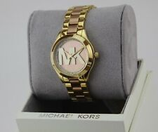 NEW AUTHENTIC MICHAEL KORS MINI SLIM RUNWAY MK ROSE GOLD WOMEN'S MK3650 WATCH