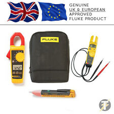 Medidor de Pinzas Fluke 325 Digital KIT1N + T5-600 Voltaje & Continuidad + 1AC + Estuche