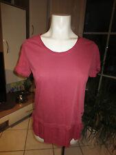CECIL Big Shirt  kurzarm Größe S rotviolett Love your garment Lagenlook