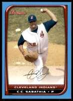 2008 Bowman Sky Blue #/500 C.C. Sabathia Cleveland Indians #25