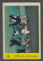 1959-60 Parkhurst Hockey Card #46 Officials Intervene