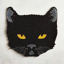 PIER1 MIDNIGHT CARNIVAL COLLECTION HALLOWEEN BLACK CAT BEADED PLACEMAT BNWT