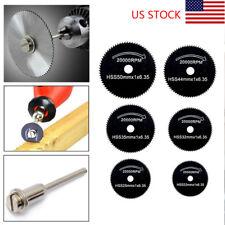 Mini Drill Kit HSS Rotary Saw 22-50mm Accessories 6Pcs Saw Blade Cutting Discs