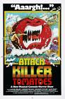 Attack Of the Killer Tomatoes- Canvas print Vintage movie poster - A4
