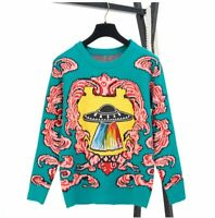 Womens Knitted Long Sleeve Pullover Sweater Shirt Ladies Blouse Jumper Tops UFO