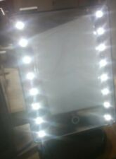 LED Makeup Mirror with Charminer 16 Lighted Touch Illuminated Cosmetic Desktop