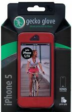 Gecko Gear Glove Silicone Case iPhone 5 Red With Bonus Screen Protector