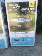 New listing Summer Waves 14'x36� Quick Set Above Ground Swimming Pool with Filter Pump - New