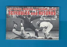 """1971 SPORTING NEWS OFFICIAL MLB SCHEDULES AND RECORDS 40 PAGES 5.5"""" x 3.5"""""""