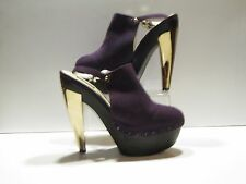 Messeca NY 'Madison' Purple Suede Slingback Platform High Heel Clogs Sz. 9.5M