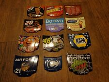 LOT OF ACTION COLLECTIBLES--MINI PLASTIC NASCAR HOOD MAGNETS (LOOK)
