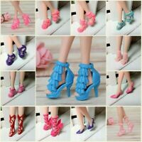 """80Pairs Fashion High Heels Shoes Sandals Doll Shoes For 11.5"""" Dolls 1/6 Kids Toy"""