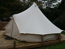 Used Beige 5m Canvas Bell Tent With Zipped In Ground Sheet