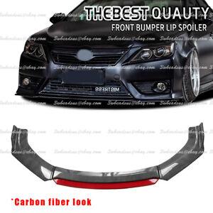 For Toyota Corolla Hatchback 01-21 Front Bumper Lip Splitter Spoiler Black + Red
