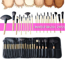 24PC BLack Makeup Brush Set Powder Foundation Eyebrow Brush Tools & Cosmetic Bag