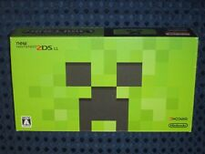 Nintendo 2DS LL Minecraft Bundle Limited Creeper ed. Green Console System JAPAN