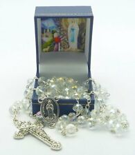 Crystal Lourdes Apparitions Rosary Beads FROM LOURDES - Catholic Gift Shop LTD