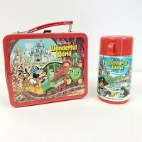 Walt Disney Productions Wonderful World Metal Lunch Box w/ Thermos World On Ice