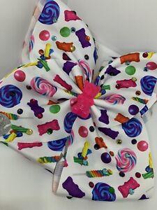 JoJo Siwa Bear And Candy Large Hair Bow /Nickelodeon NWOT, Rare! So Cute!