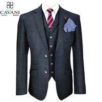Mens Cavani Tweed Blazer Waistcoat Trousers 3 Piece Suit Sold Separately