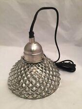 NEW Vagabond Vintage Hobnail Mercury Glass Pendant Lamp,  Hanging Light