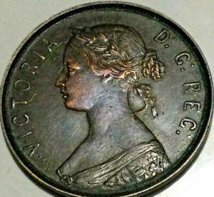 1880  Newfoundland Canada  Victoria One Cent Nice Grade