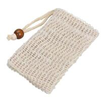 Organic Hemp Soap Bags Saver Pouch Foaming Net Rope Exfoliating Clean Tools