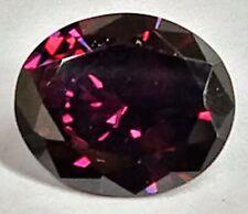 Beautiful Vibrant Wine Colored Oval Cut Cubic Zirconia (CZ) 11x9mm Loose Stone