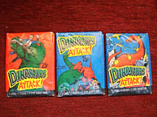 1988 TOPPS DINOSAURS ATTACK - 3 UNOPENED PACKS WITH DIFF. COVERS - HAVE A LOOK