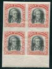 NIUE CAPTAIN COOK PLATE PROOF BLOCK OF FOUR 1920 PERKINS BACON