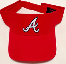 Atlanta Braves Heat Applied Applique on Red visor cap hat! Adjustable!